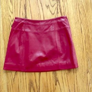 Leather skirt,  Genuine leather,red, new with tags